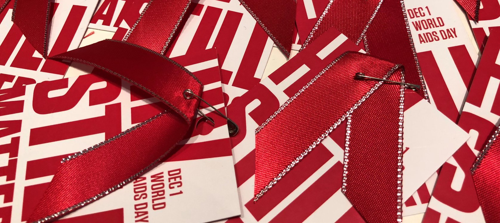 World AIDS Day Red Ribbons